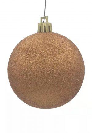 Christmas Ball Copper Glitter