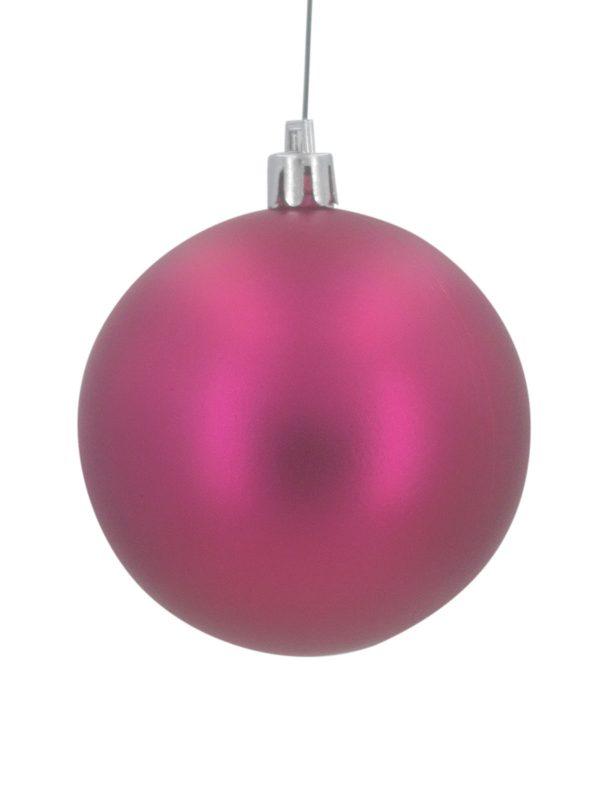 Christmas Ball 70mm Matt Cerise