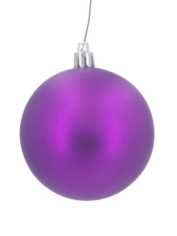 Christmas Ball 70mm Matt Purple