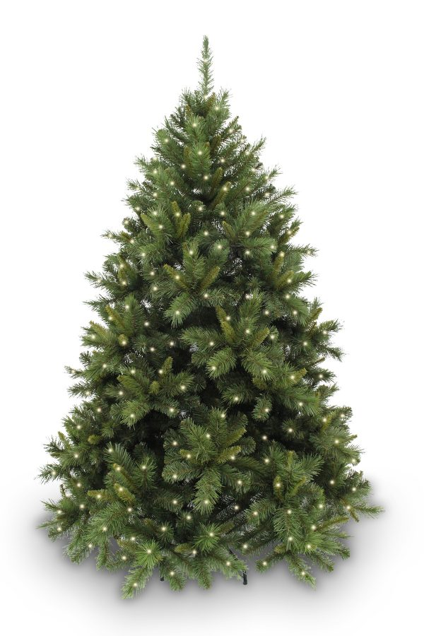 7.5ft New Hampshire Pine Christmas Tree Hinged 2.28m with 440 LED's