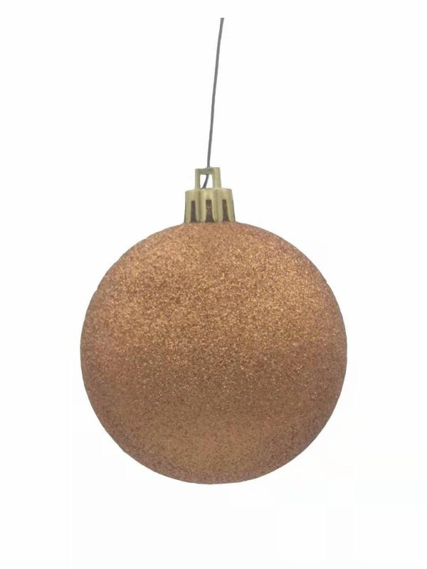 Christmas Ball Glitter Copper