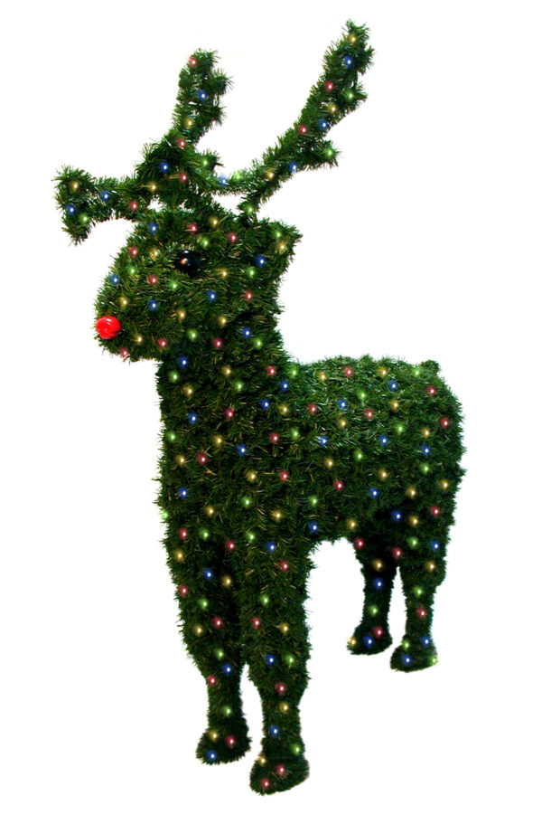 Christmas Reindeer 1.76m with Multi Colour Lights